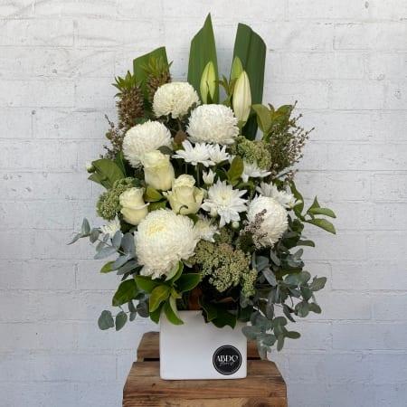 All White Seasonal Flowers